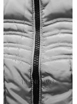 Sivá zimná bunda FASHION