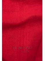 Súprava s potlačou a prúžkami červená