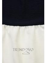 Volánový top modrá/biela/khaki