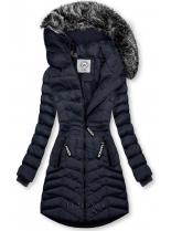 Tmavomodrá zimná bunda FASHION