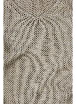 Cappuccino hnedý pletený pulóver