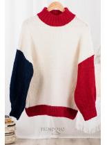 Béžový oversized pulóver