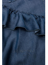 Jemná košeľa z lyocellu tmavomodrá