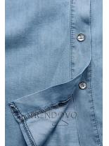 Jemná košeľa z lyocellu svetlomodrá