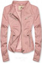 Ružová semišová bunda