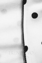 Bodkovaná mikina biela/čierna