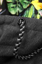 Grafitová mikina v asymetrickom strihu