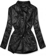 Čierna prešívaná bunda bez kapucne
