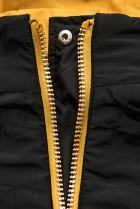 Obojstranná bunda žltá/čierna
