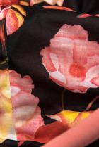 Tepláková súprava s kvetinovou podšívkou marhuľová/grafit