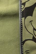 Khaki tepláková súprava s potlačou