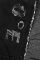 Tepláková súprava s kapucňou čierna