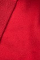 Červená tepláková súprava s nášivkou
